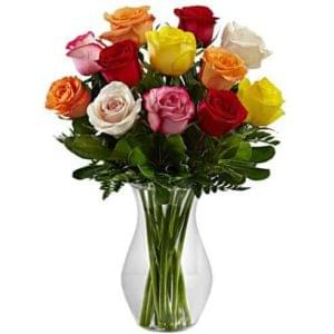 12 Assorted Roses