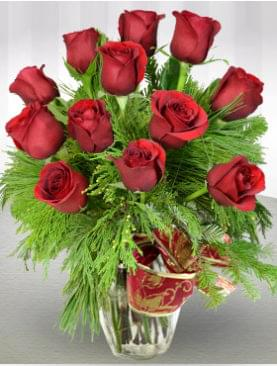 Holiday Red Roses